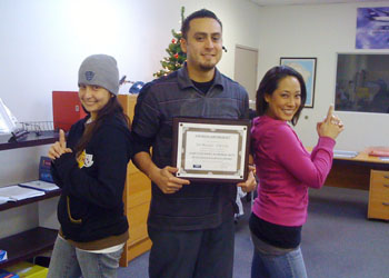 EAF LAX Los Angeles - Tim Placencio was awarded the first annual Best in EAF Customer Service Award