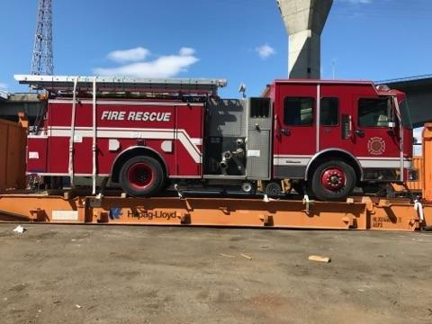 Express Air Freight Seattle recently had the opportunity to export a Fire Truck going to Paraguay